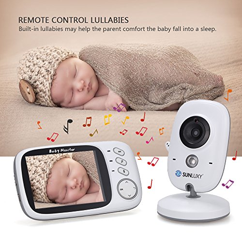 sunluxy 3 2 zoll farb wireless baby monitor babyphone. Black Bedroom Furniture Sets. Home Design Ideas