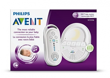Philips Avent SCD506/26 DECT Babyphone (Smart Eco Mode, Gegensprechfunktion) -